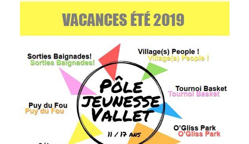 Pôle jeunesse Vallet Animation – programme d'été