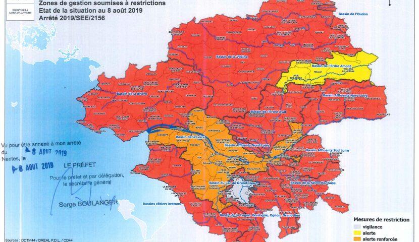 ATTENTION changement de situation, prélèvements d'eau : restriction en Loire-Atlantique